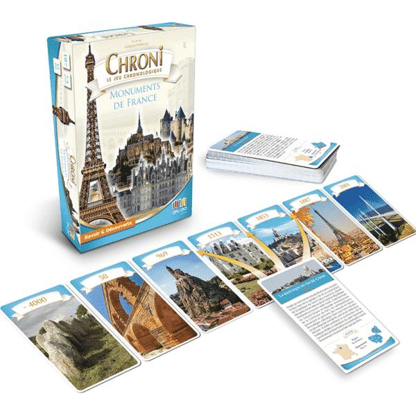 Chroni Monuments de France Boite avec Cartes